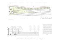Grafički prilog 5: Koncept uređenja odmorišno-servisne zone Kanfanar, presjek  odmorišnog dijela