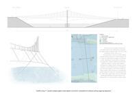 prikaz prve stranice dokumenta Grafički prilog 11: Uzdužni presjek-pogled mosta zajedno sa tlocrtom i perspektivnim  prikazom jednog njegovog segmenta