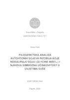 Filogenetska analiza autohtonih sojeva rizobija koje noduliraju soju (Glycine max L.) i njihova simbiozna učinkovitost u uvjetima suše