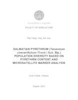 Dalmatian pyrethrum (Tanacetum cinerariifolium /Trevir./Sch. Bip.) population diversity based on pyrethrin content and microsatellite marker analysis